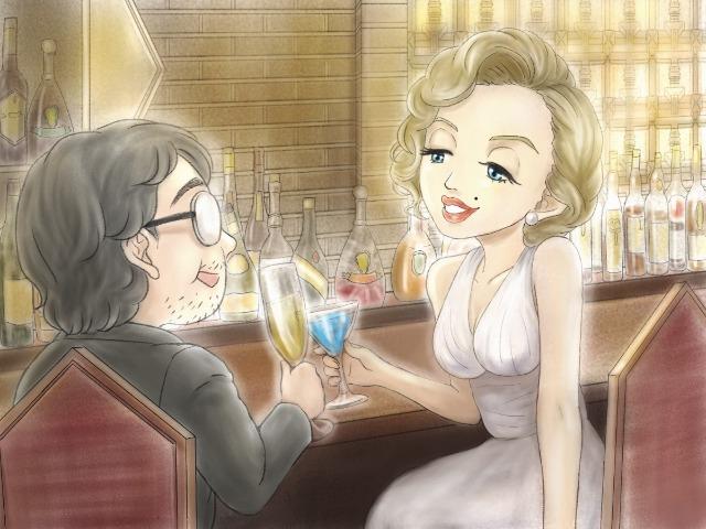 帝国ホテルを訪れたマリリン・モンロー(イラスト・古本有美)
