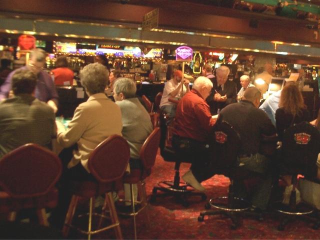 ストリップ(ラスベガス大通り)沿いのカジノの様子