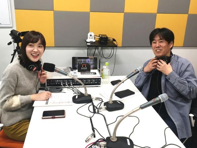 朝日放送(ABC)の澤田有也佳アナウンサーとDANROの亀松太郎編集長