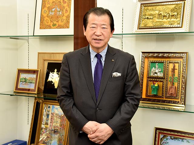 一般財団法人日本ミャンマー友好交流協会の代表理事を務める熊野活行さん