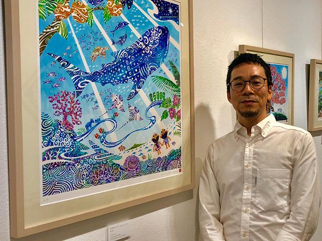 沖縄出身のアーティスト、与儀勝之さん
