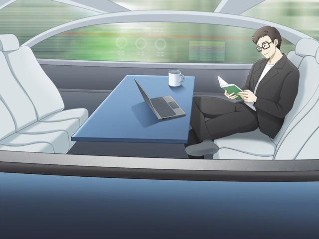 車内は住空間へと近づくのかもしれない(イラスト・古本有美)