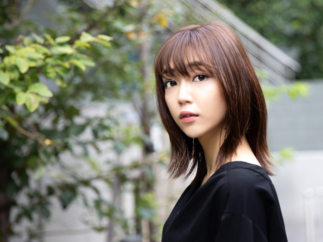 国内外で注目を集める女優の山谷花純さん(撮影:萩原美寛)