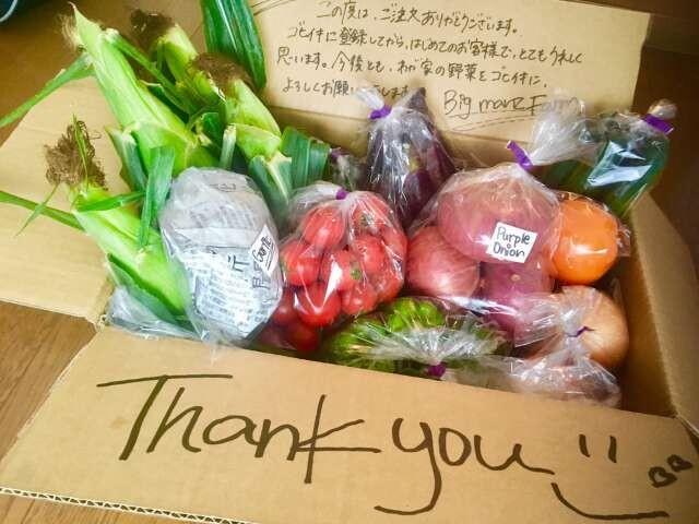 設定した金額分、農家おすすめの野菜が届く