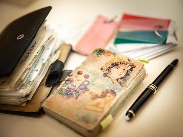 イラストレーターの田村セツコさんの日記帳