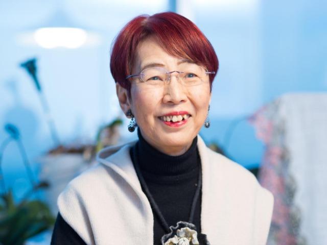 笑顔の上野千鶴子さん