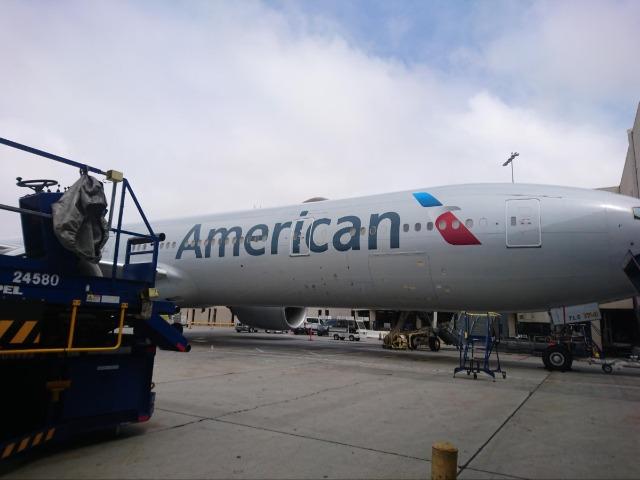アメリカン航空のサービスや快適性は予想以上でありました。