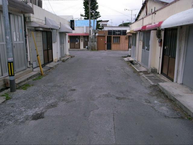 ゴーストタウン化した現在の真栄原新町