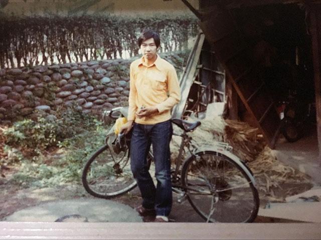 サイクリングにはまった高校生の頃。髪形も体形もいまとは全く違う