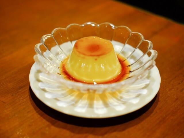 喫茶フィガロの手作りプリン