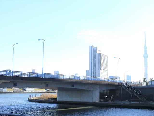 隅田川駅につながっていた水路の跡地