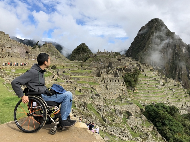 ペルーのマチュピチュ遺跡を訪ねた三代達也さん「この光景を目に焼き付けておこうと思った」(提供:三代達也さん)
