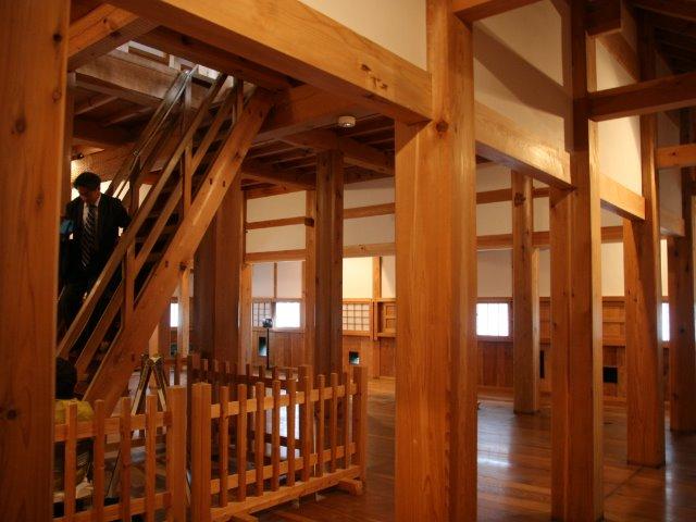 三重櫓の二階の様子