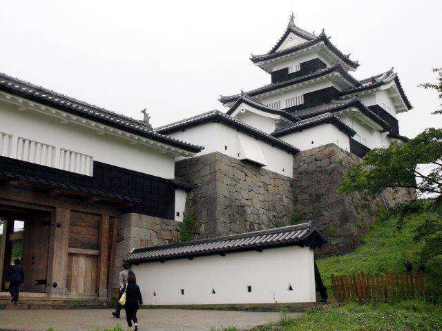 小峰城の三重櫓(2018年6月15日撮影)