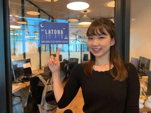 大田和響子さん。入居する原宿のシェアオフィスにて