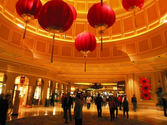 カジノホテル「ベラージオ」の内部